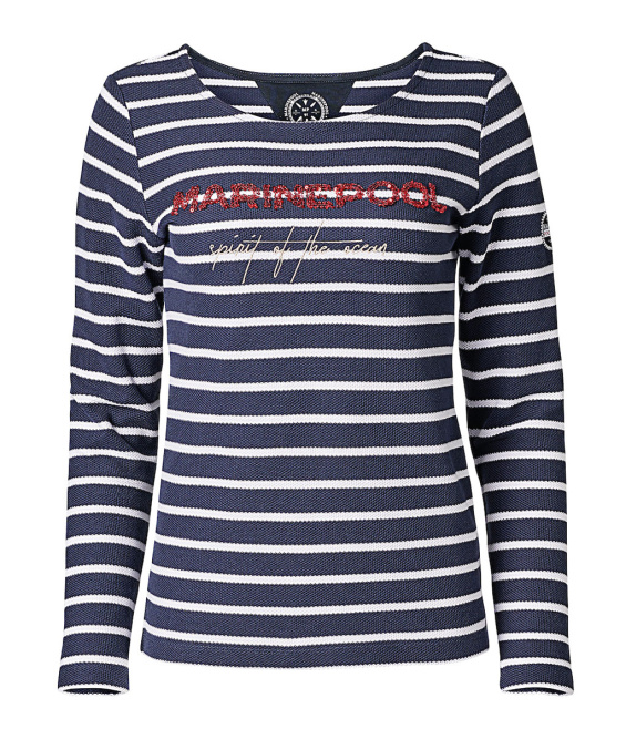 Pull femme manches longues rayé Leilani